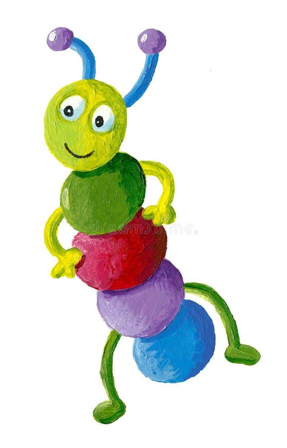 Lagarta colorida engraçada ilustração stock