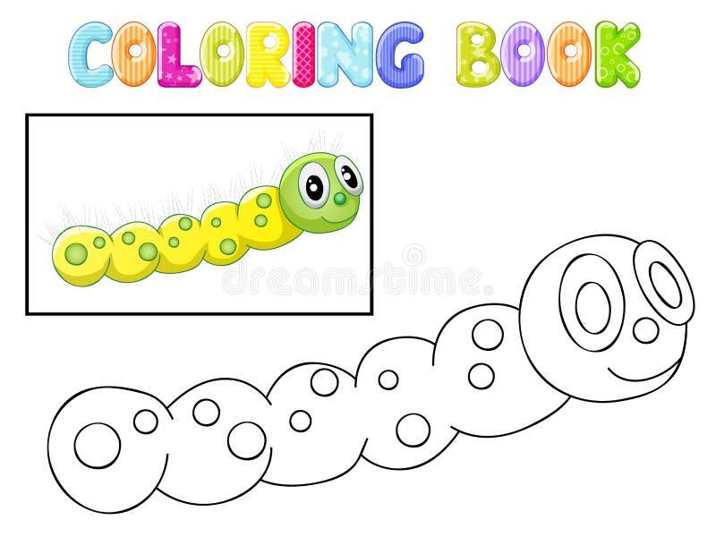 Lagarta da coloração ilustração do vetor