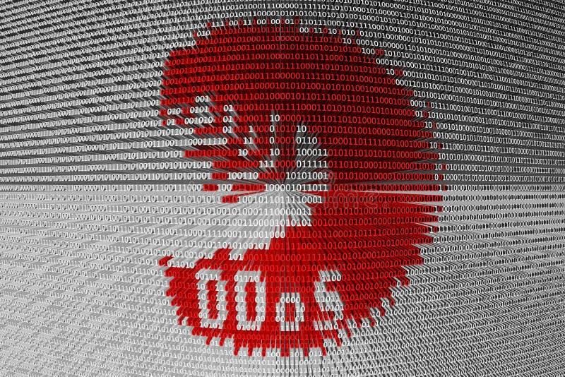 Lagarta de DDoS ilustração royalty free