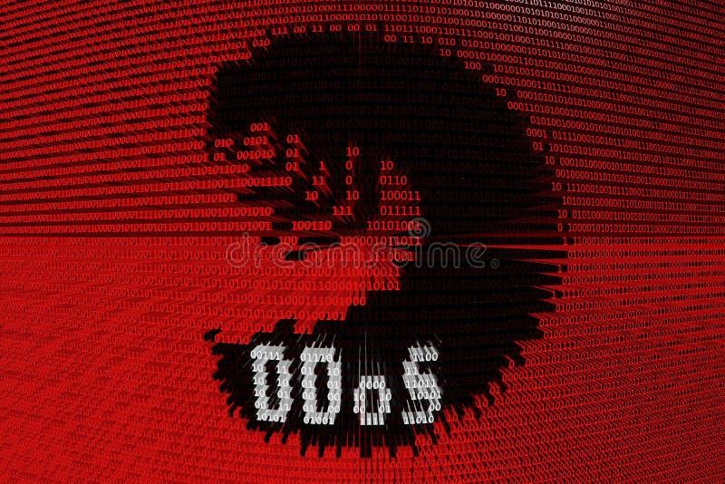 Lagarta de DDoS ilustração stock