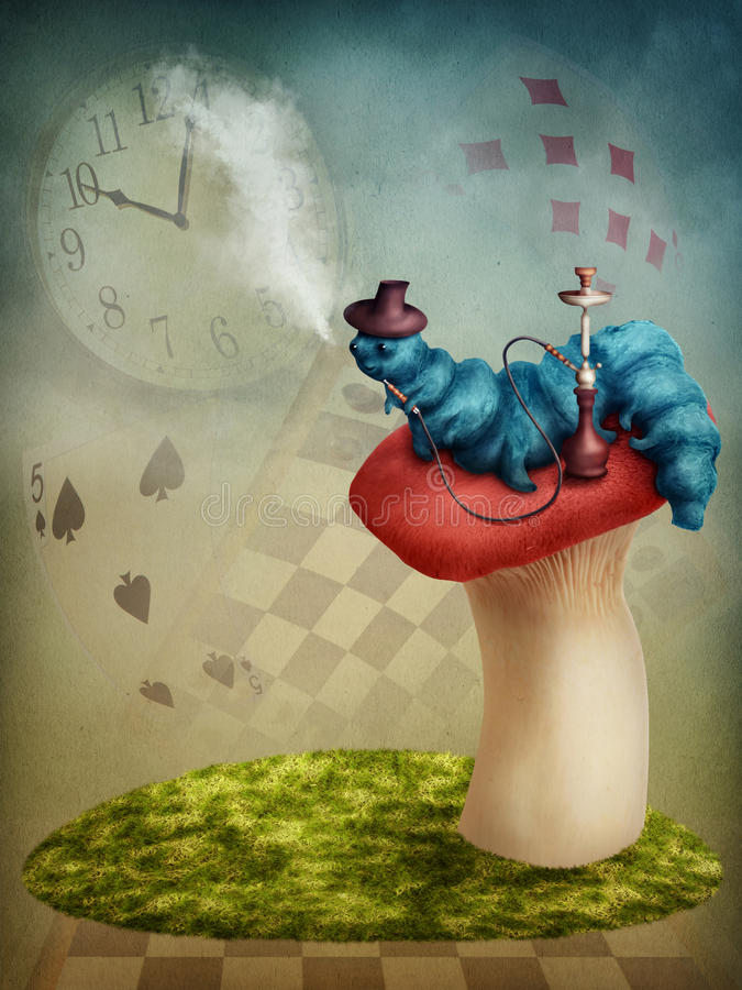 Lagarta de fumo ilustração do vetor