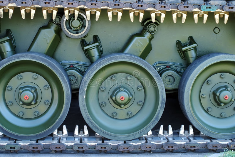 Lagarta do tanque de exército fotografia de stock