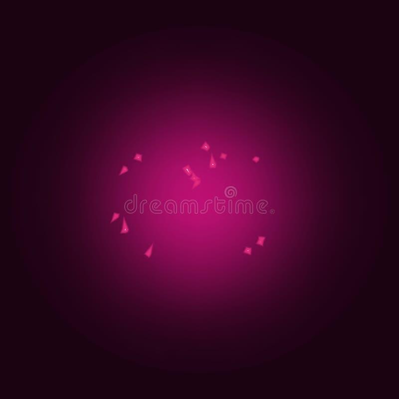 lagarta na forma do ícone do coração Elementos do Valentim nos ícones de néon do estilo Ícone simples para Web site, design web,  ilustração do vetor