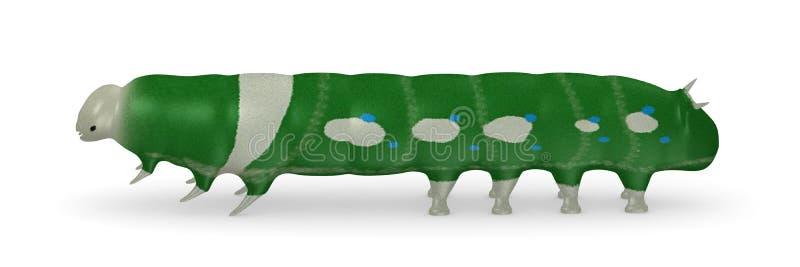 Lagarta verde ilustração do vetor
