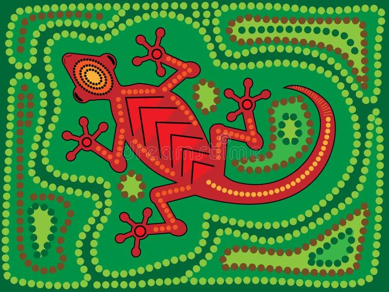 Lagarto aborígene ilustração royalty free