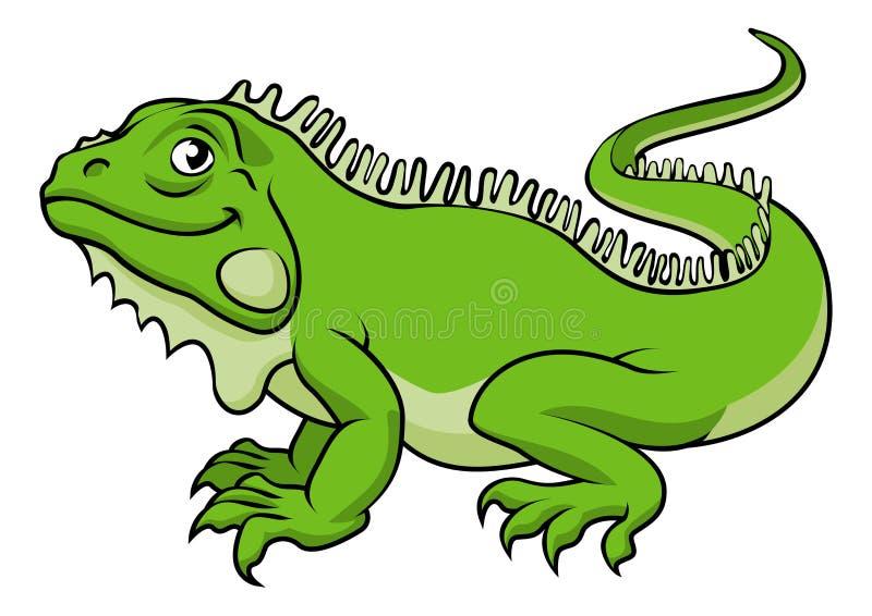 Lagarto de la iguana de la historieta ilustración del vector