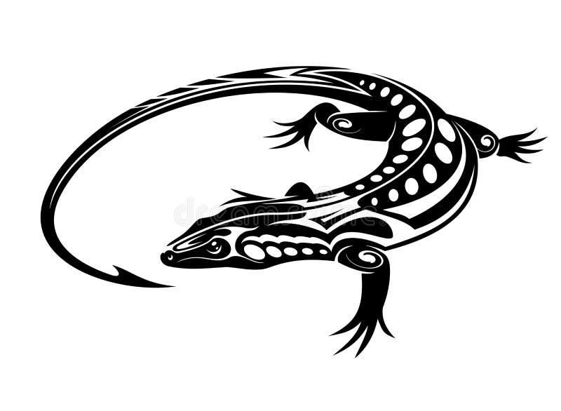 Lagarto negro de la iguana libre illustration