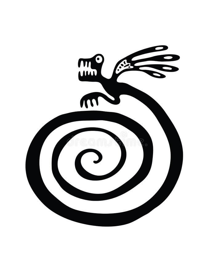 Lagarto o dragón en estilo nativo libre illustration