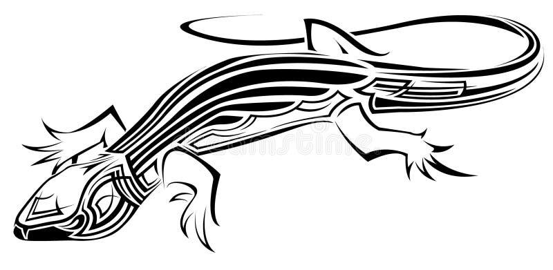 Lagarto tribal ilustração do vetor