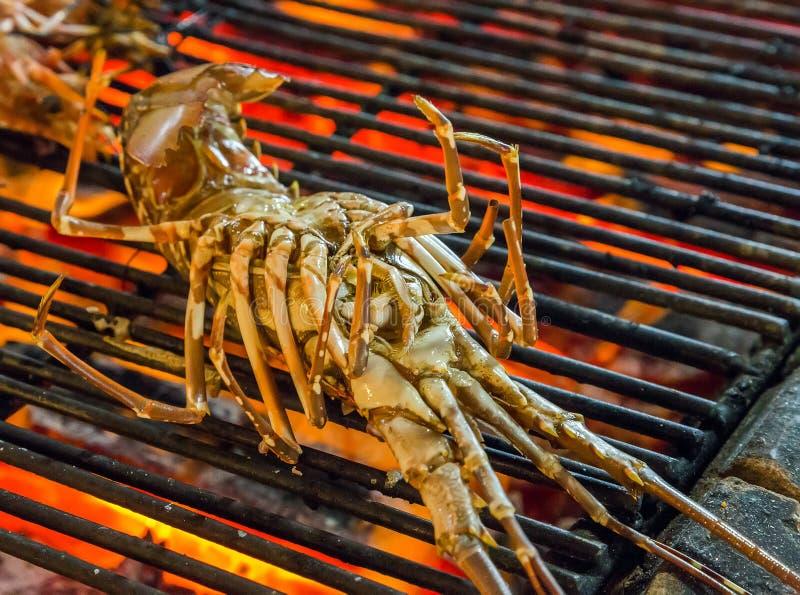 Lagat mat havs- grillfestgaller för hummer royaltyfri bild
