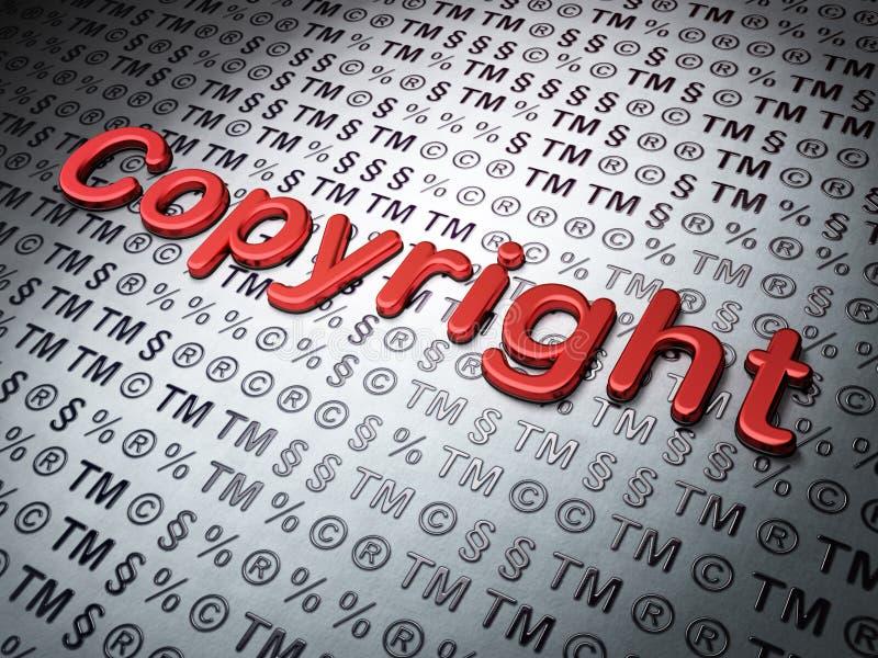 Lagbegrepp: Copyright på lagbakgrund vektor illustrationer