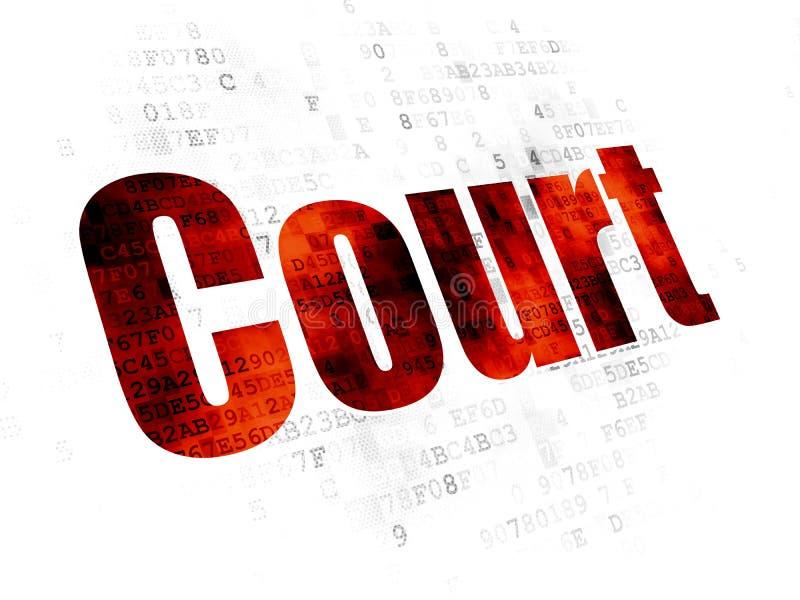 Lagbegrepp: Domstol på Digital bakgrund vektor illustrationer