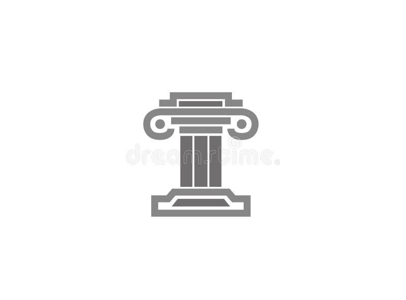 Lagbyggnadsrättvisa för logodesignillustration stock illustrationer