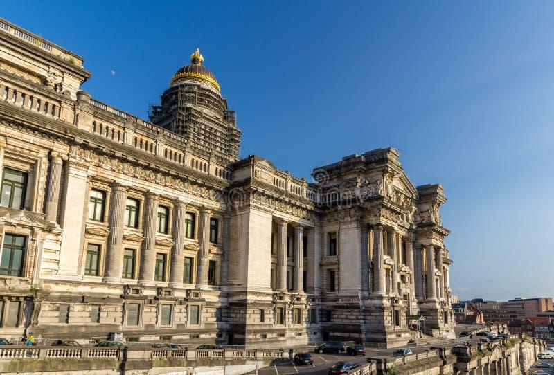 Lagdomstolar av Bryssel, Belgien arkivfoto
