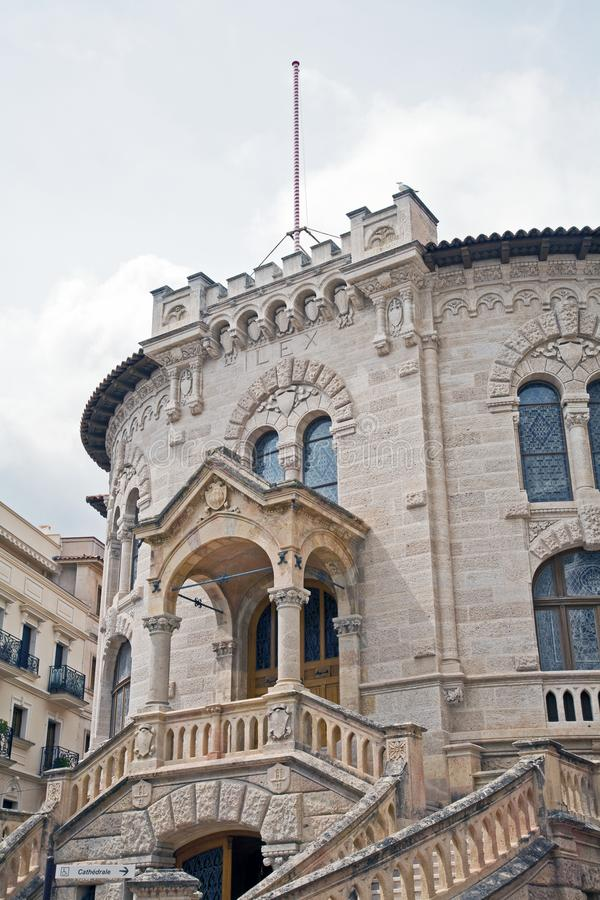 Lagdomstolar på monte - carlo arkivbild