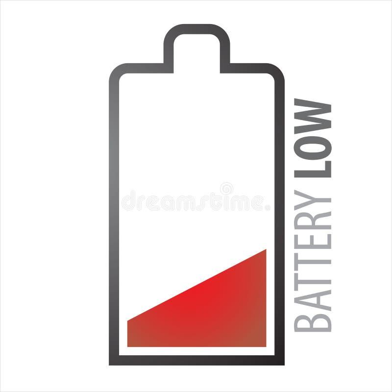 Lage batterij royalty-vrije illustratie