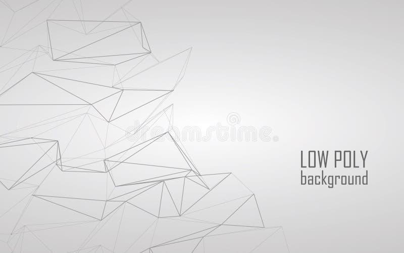 Lage poly 3d abstracte vectorachtergrond Lijnart. royalty-vrije illustratie
