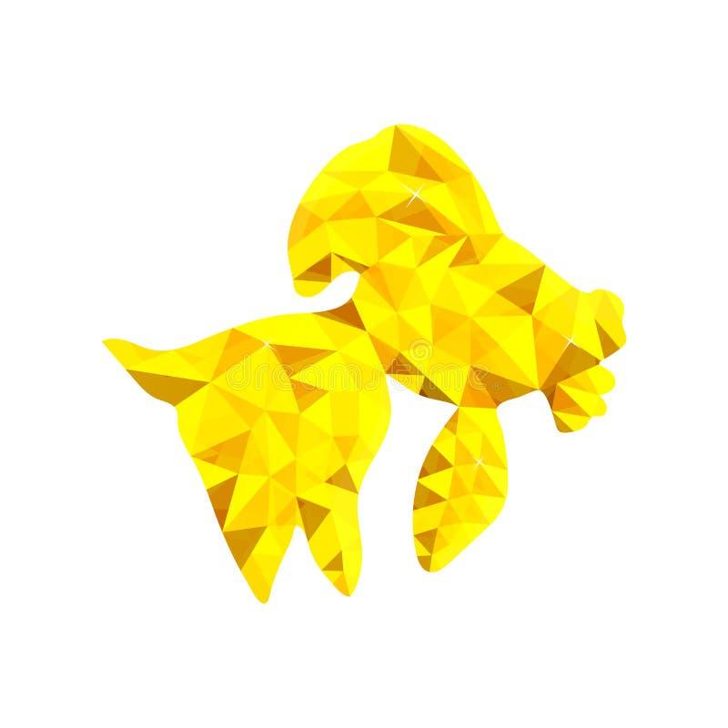 Lage poly gouden vissen royalty-vrije illustratie