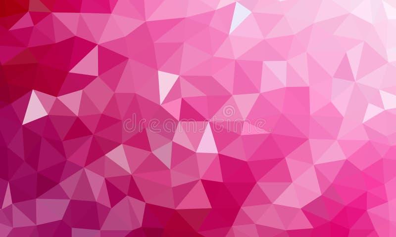 Lage poly roze kleur als achtergrond royalty-vrije illustratie