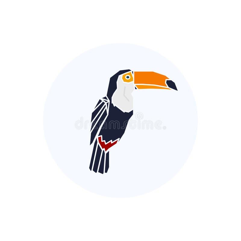 Lage polyvogel Het embleem van de toekan vector illustratie
