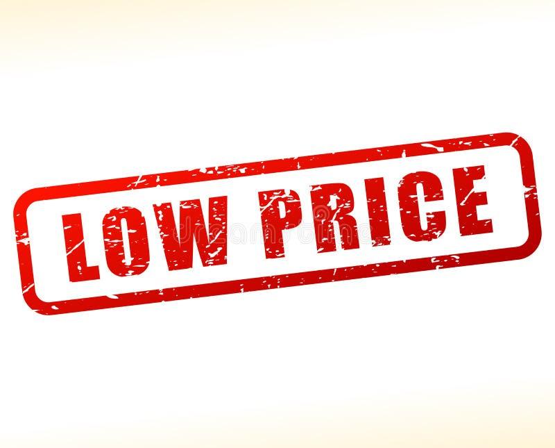 Lage prijs rode zegel op witte achtergrond royalty-vrije illustratie