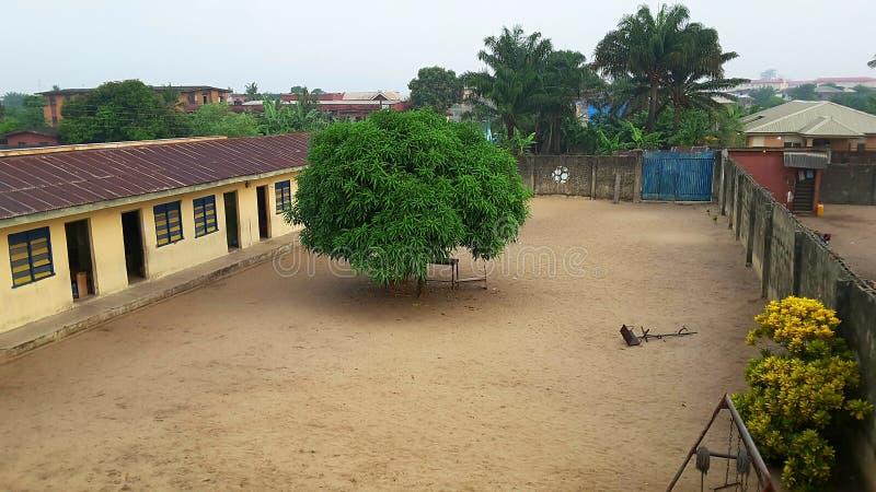 Lage school in Lagos, Nigeria royalty-vrije stock foto