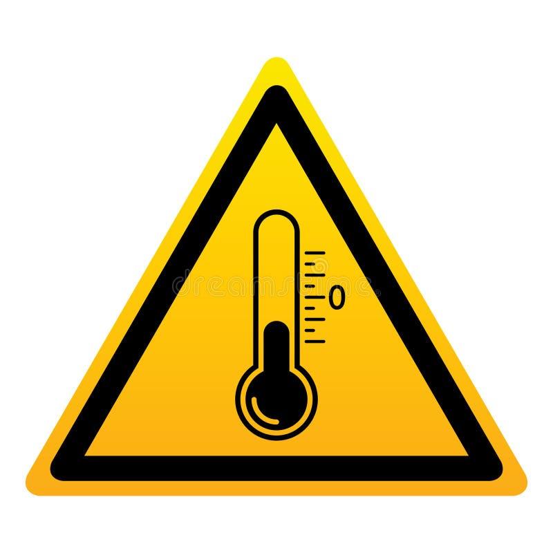 Lage temperatuurteken vector illustratie