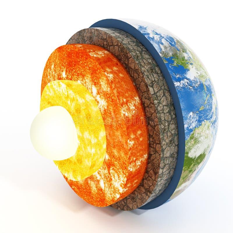 Lagen van aarde 3D Illustratie