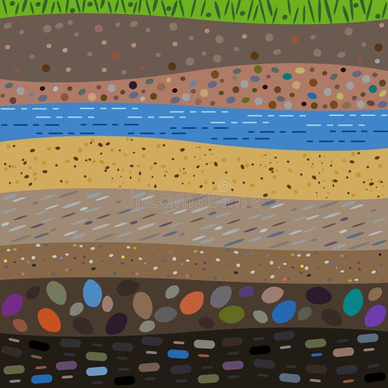 Lager av jordabstrakt begreppbakgrunden royaltyfri illustrationer