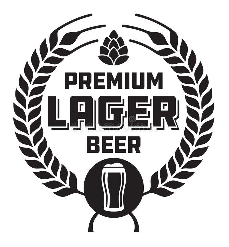 Lager Beer Badge ou label illustration stock