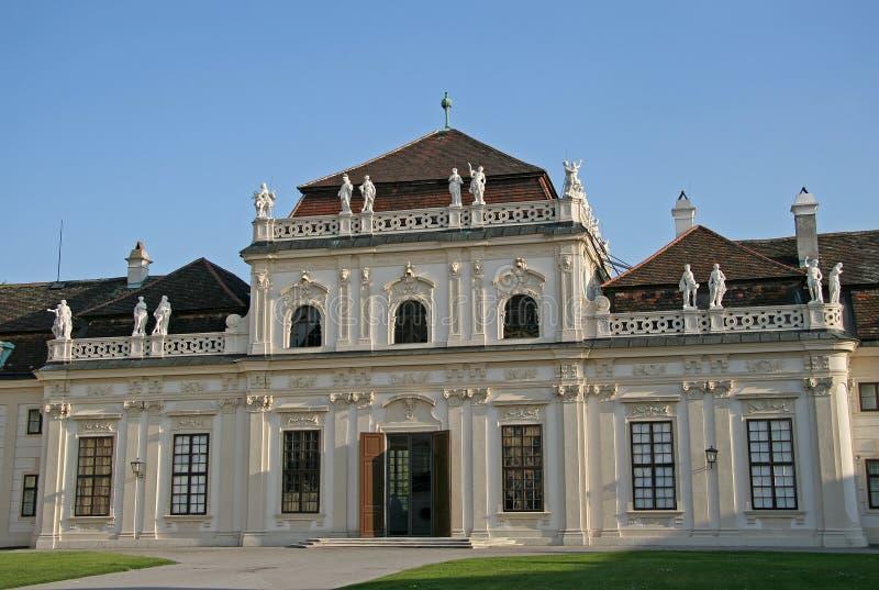 Lager Belvedere Paleis in Wenen, Oostenrijk stock afbeelding