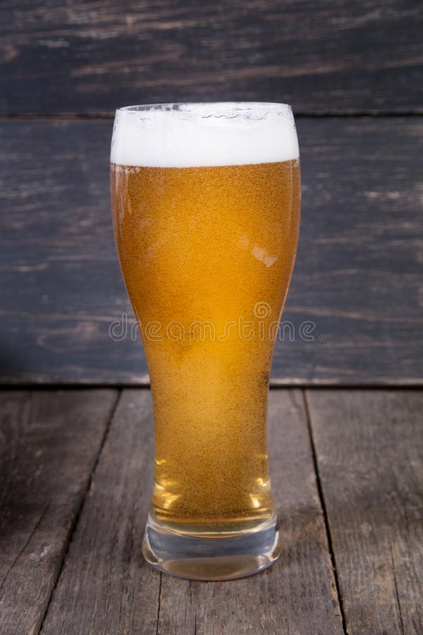 Lager draft beer in a glass stock photography