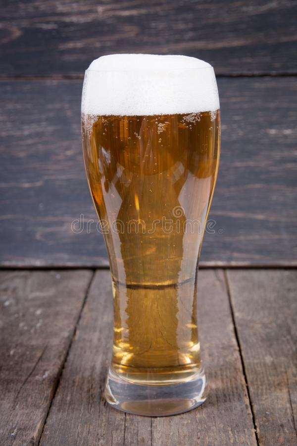 lager draft beer in a glass royalty free stock photography
