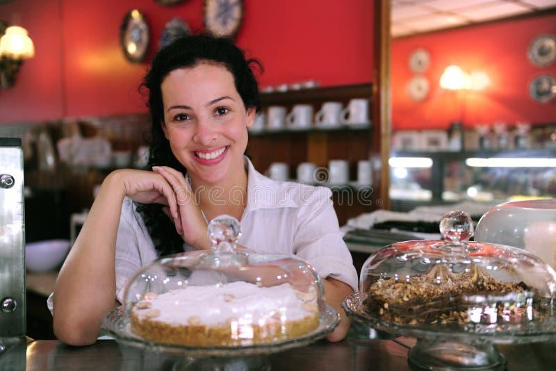 lager för cafecakeägare royaltyfri bild