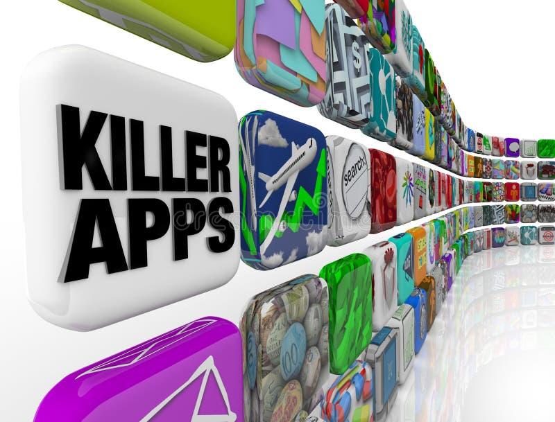 lager för programvara för mördare för applikationappsnedladdning stock illustrationer