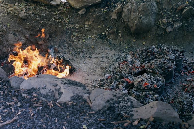 Lager-Feuer lizenzfreie stockfotografie