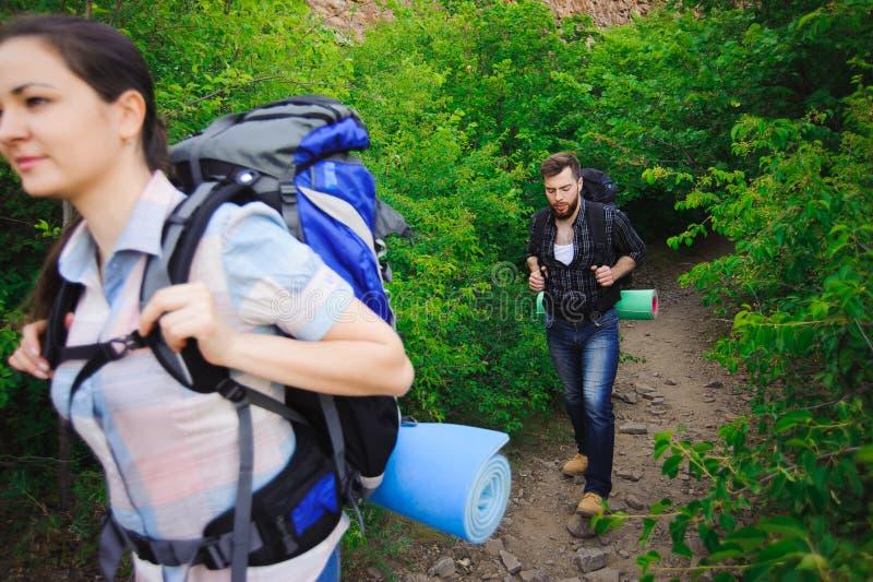 Lager-Forest Adventure Travel Remote Relax-Konzept stockbilder