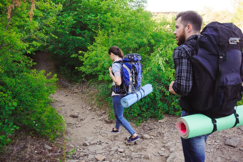 Lager-Forest Adventure Travel Remote Relax-Konzept lizenzfreies stockbild