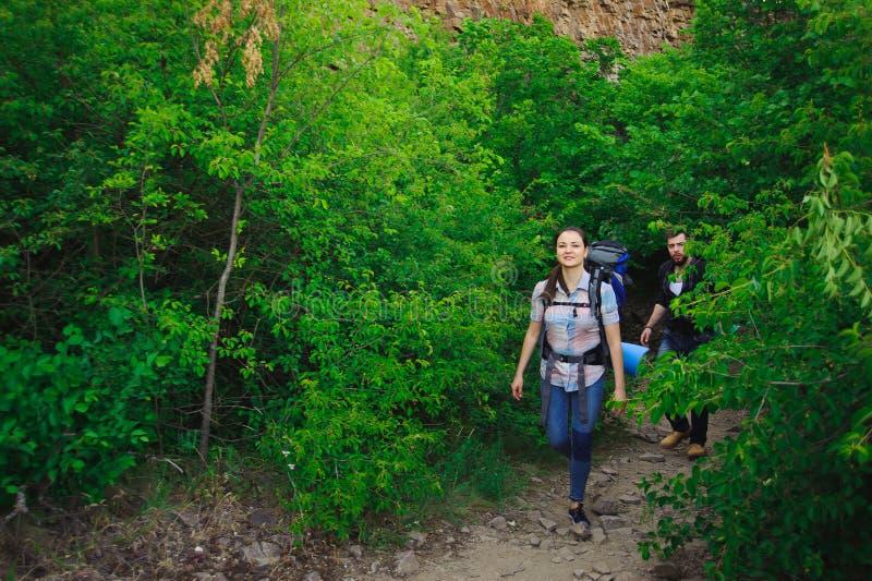 Lager-Forest Adventure Travel Remote Relax-Konzept stockfotografie