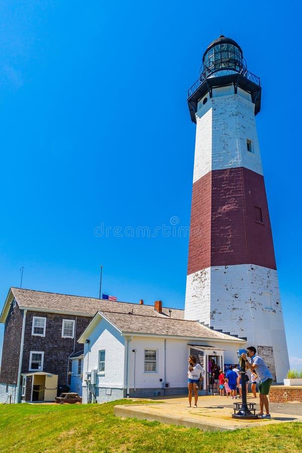 Lager-Held-Nationalpark Long Island New York - 17. Juli 2016 Montauk-Punkt-Leuchtturm stockbild