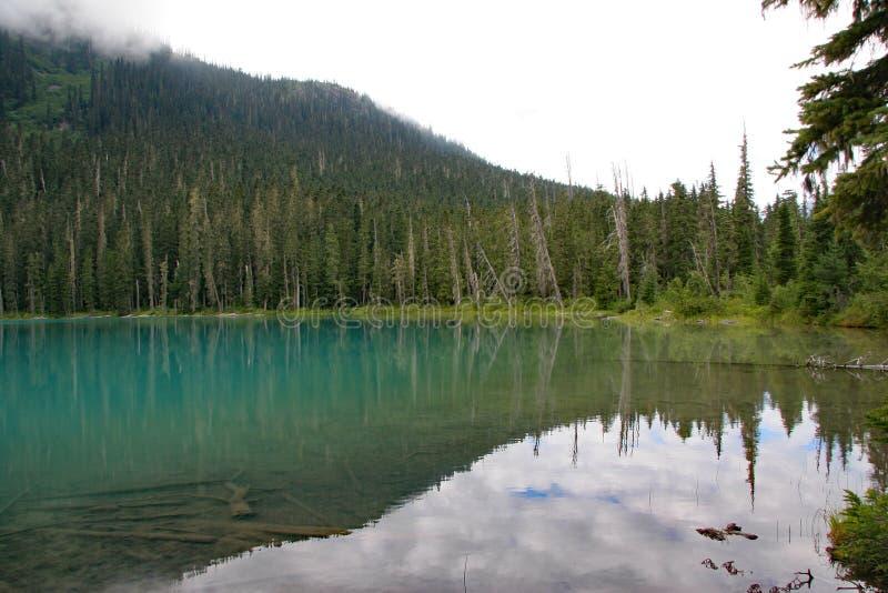 Lager Joffre Lake in Joffre Lakes Provincial Park, Canada royalty-vrije stock foto