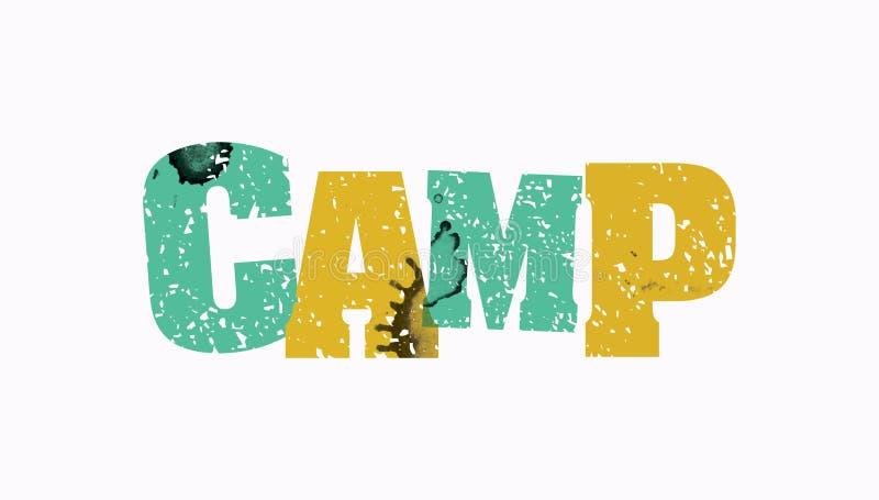 Lager-Konzept-bunte gestempelte Wort-Illustration vektor abbildung