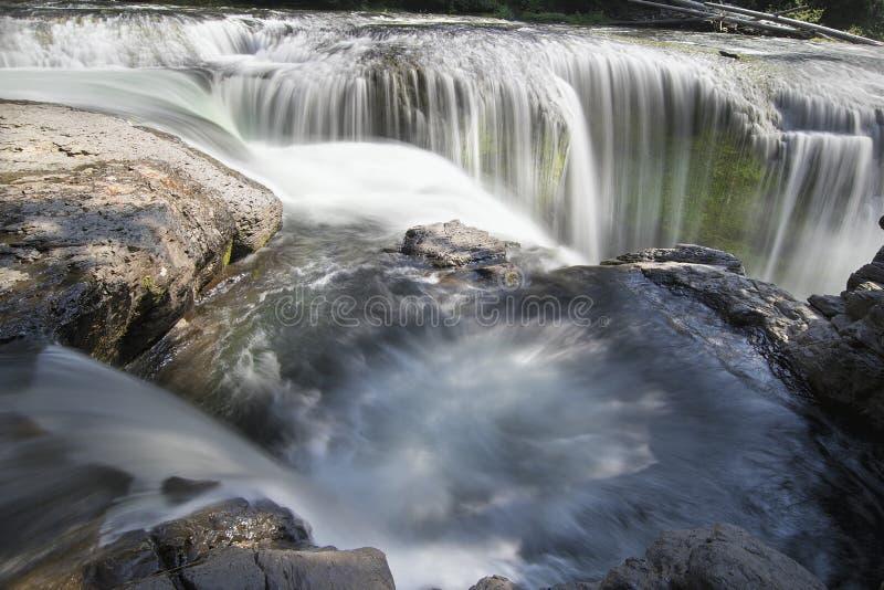 Lager Lewis River Falls Closeup stock foto's