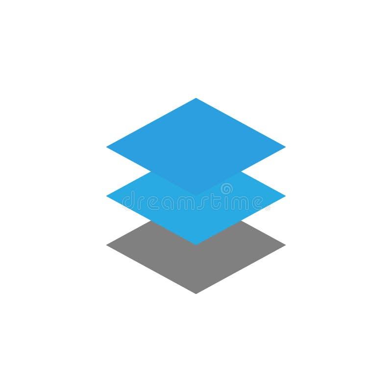 Lager och nivåsymbol Beståndsdel av användargränssnittsymbolen för mobila begrepps- och rengöringsdukapps Den specificerade lager vektor illustrationer