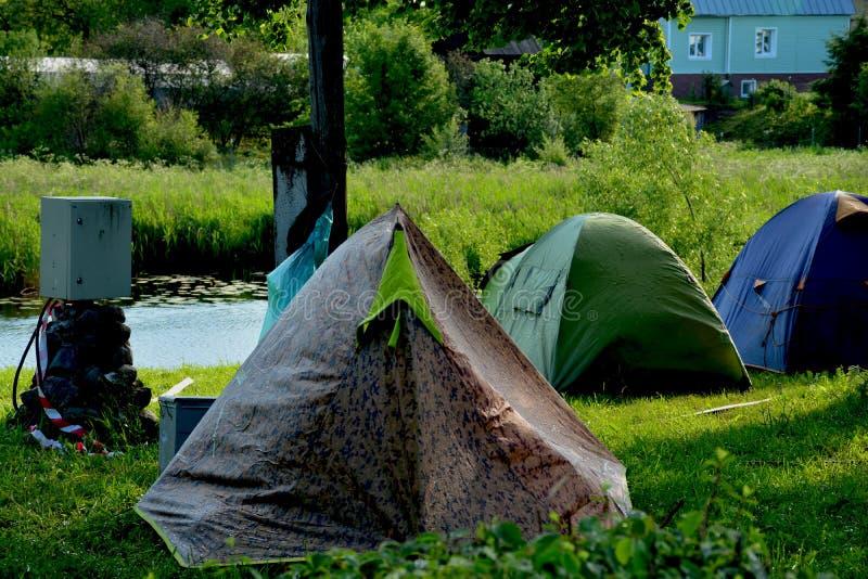 Lager von Radfahrern in Suzdal lizenzfreie stockfotografie