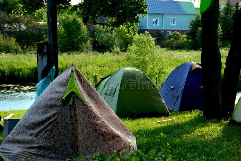 Lager von Radfahrern in Suzdal lizenzfreies stockfoto