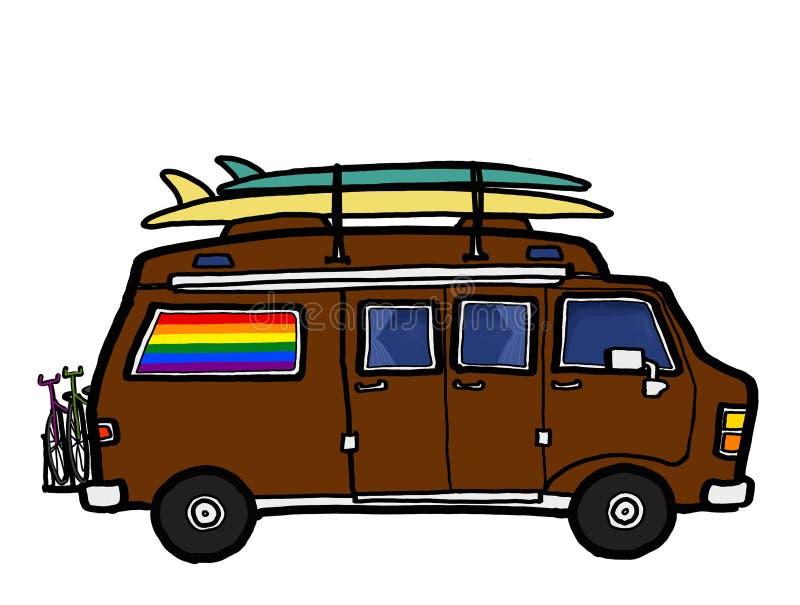 Lagerbewohner Van Road Trip stock abbildung