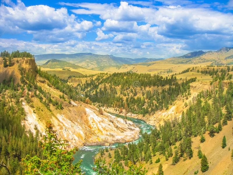 Lagere Dalingen van Yellowstone-Rivier royalty-vrije stock foto's