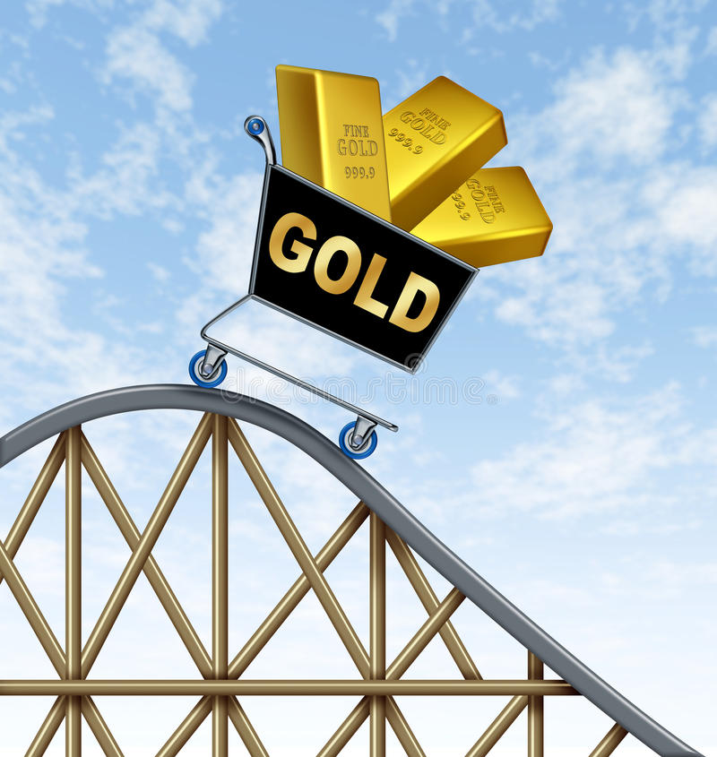 Lagere Gouden prijzen stock illustratie