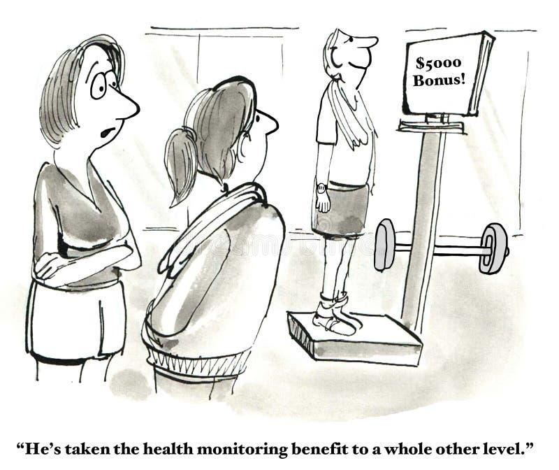 Lagere Ziektekostenverzekeringkosten stock illustratie